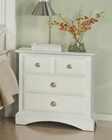 Najarian Furniture Palazzo Night Stand in White NA-PANSW