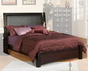 Najarian Furniture Palazzo Panel Bed in Ebony Finish NA-PAPNBDE