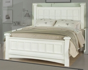 Najarian Furniture Palazzo Youth Bed in White NA-PAPSBDW