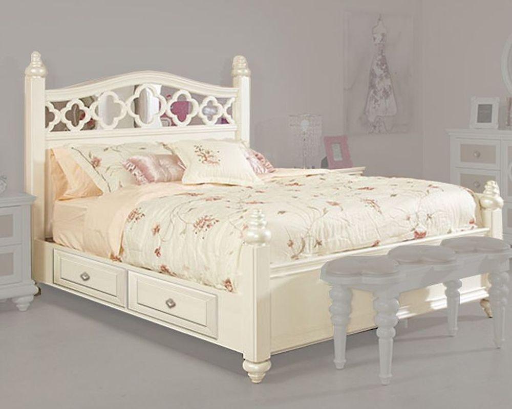 Najarian Furniture Contemporary Bedroom Set Studio Na Stbset: Najarian Furniture Youth Panel Bed Paris NA-PR-YPNBED