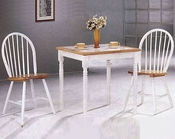 Natural / White Dinette Set CO-4191s