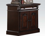 Nightstand w/ Wood Top Roman Empire Acme AC19347