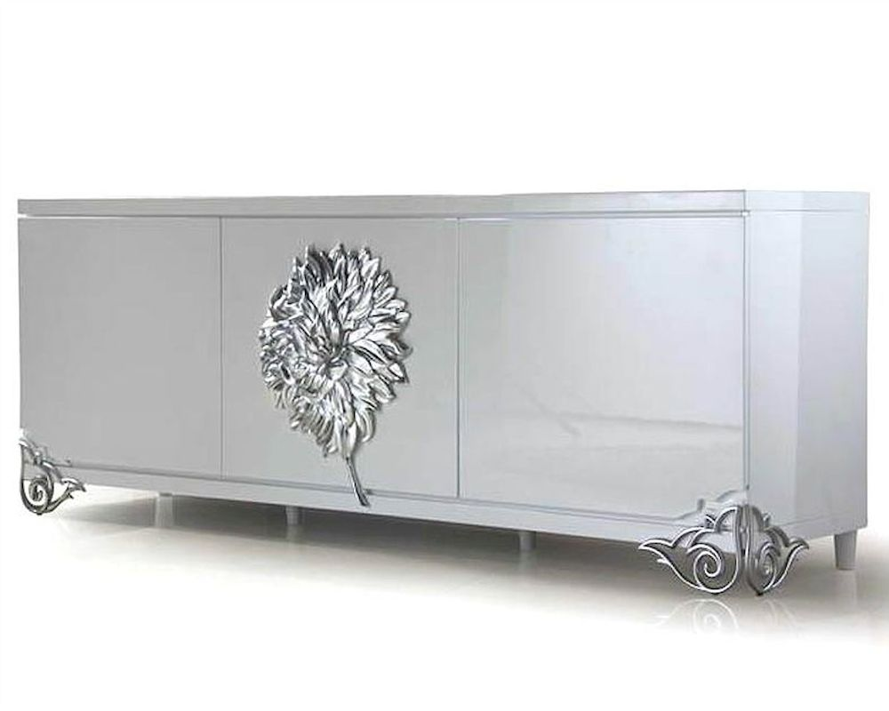 Nora Modern White Lacquer Large Buffet 44DLS511 - ^