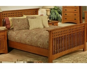 Oak Bed in Cherry Finish Bungalow by Ayca AY-AP5-502Bed