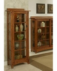 Oak One-Door Tall Touchlight Curio Bungalow by Ayca AY-11007