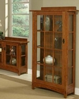 Oak One-Door Touch Light Curio Bungalow by Ayca AY-11003