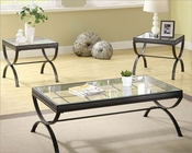 Occasional Table Set in Black Claro by Homelegance EL-3223BK-31-SET
