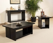 Occasional Table Set in Black Finish Ebony by Somerton SO-624-04SET
