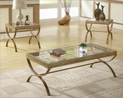 Occasional Table Set in Gold Claro by Homelegance EL-3223GD-31-SET