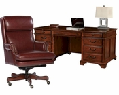 Office Set in Weathered Cherry by Hekman HE-79270-SET