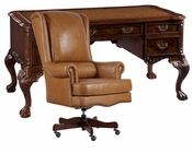 Office Set w/ Leather Top Writing Desk by Hekman HE-73992-SET