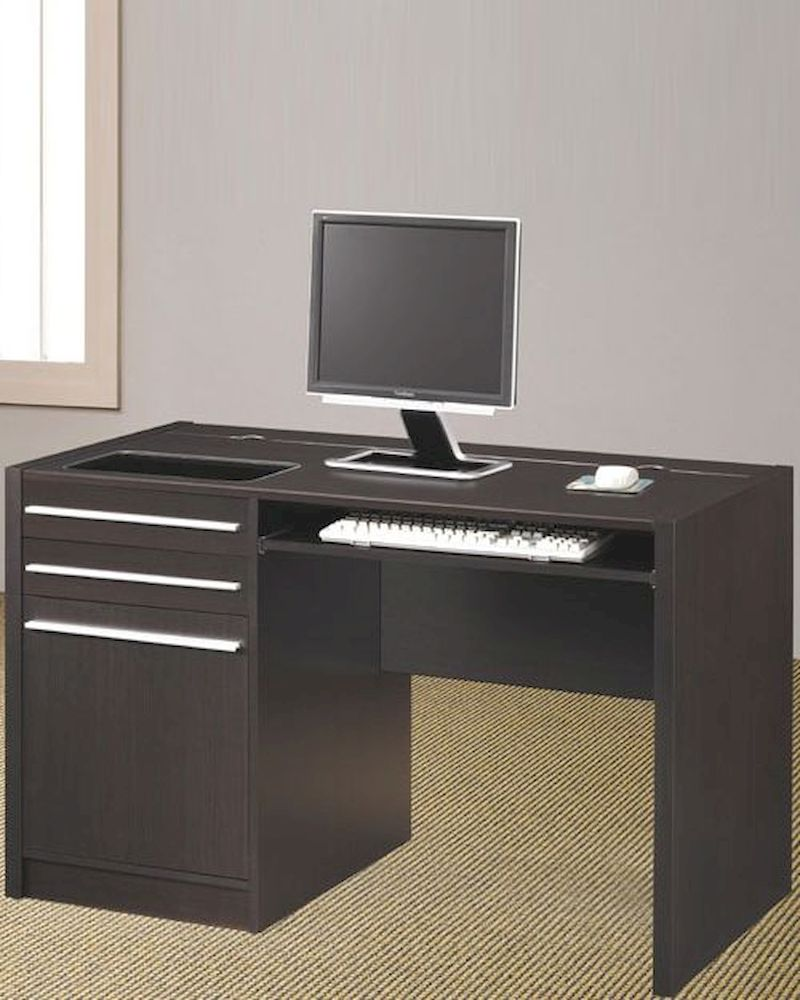 Ontario Contemporary Computer Desk With Charging Station