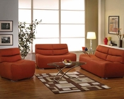 Orange Linen Sofa Kainda by Acme Furniture AC51710SET