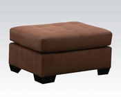 Ottoman in Espresso Microfiber Aislin by Acme Furniture AC50383