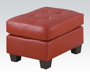 Ottoman Platinum Red by Acme Furniture AC15103B