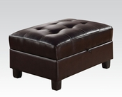 Ottoman w/ Storage Kiva Espresso by Acme Furniture AC51197