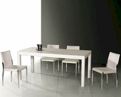 Palmira Modern White Lacquer Dining Set 44DT061SET