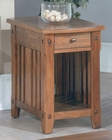 Parker House Chairside Table in Dark Oak PH-TAB13-06