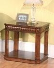 Parker House End Table in Dark Red Walnut PH-TAB37-01