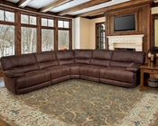 Parker House Pegasus Sectional Sofa in Dark Kahlua PHMPEG-SET-DK