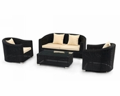 Patio Sofa Set in Contemporary Style 44P395-SET
