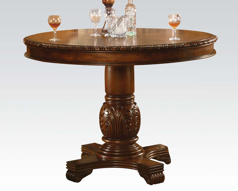 Pedestal Counter Height Table Chateau De Ville Cherry by Acme AC04082