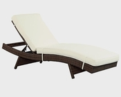 Peer Patio Chaise in Brown, White by Modway MY-EEI961BW