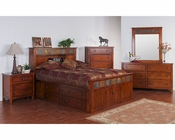 Petite Storage Bedroom Set Santa Fe Sunny Designs SU-2333DC-S-SET