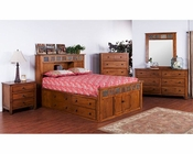 Petite Storage Bedroom Set Sedona by Sunny Designs SU-2333RO-S-Set