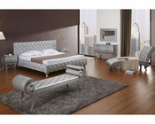 Platinum Edition Bedroom Set w/ Modern Bed with Crystals 44B196SET