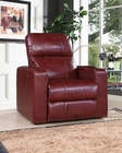 PRI Power Recliner w/ USB & Storage in Cranberry PR-1985-178-114