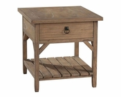 Primitive One Drawer Lamp Table Sutton's Bay by Hekman HE-14119
