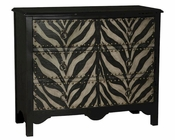 Pulaski Accent Chest w/ Textured Zebra Pattern PF-675057