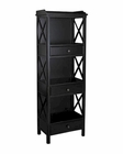 Pulaski Bookcase in Matte Black PF-641164