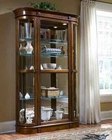 Pulaski Cabinet Curio with Curved Ends PF-21131