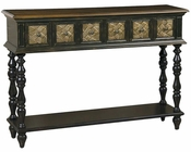 Pulaski Console Table w/ Faux Worked-Metal Panels PF-549235