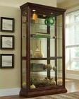 Pulaski Two Way Sliding Door Curio in Eden House PF-20542
