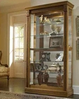 Pulaski Two Way Sliding Door Curio in Oak PF-20484