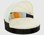 Quest Canopy Outdoor Daybed in Espresso, White by Modway MY-EEI983EW