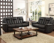 Reclining Sofa Set Cade by Homelegance EL-8512BLK-SET