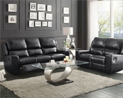 Reclining Sofa Set Gannet in Black by Homelegance EL-8529BLK-SET