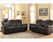 Reclining Sofa Set Talbot by Homelegance EL-8524BK-SET