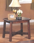 Rectangular End Table in Dark Cherry Finish AN-OET76