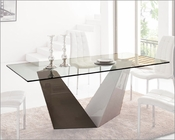 Rectangular Glass Top Dining  Table 1018