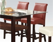 Red Counter Height Chair Ripley by Acme Furniture AC71373 (Set of 2)