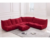 Red Fabric Sectional Sofa in Contemporary Style 44L6109