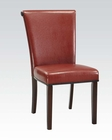 Red Finish Side Chair Jafar by Acme Furniture AC71533 (Set of 2)