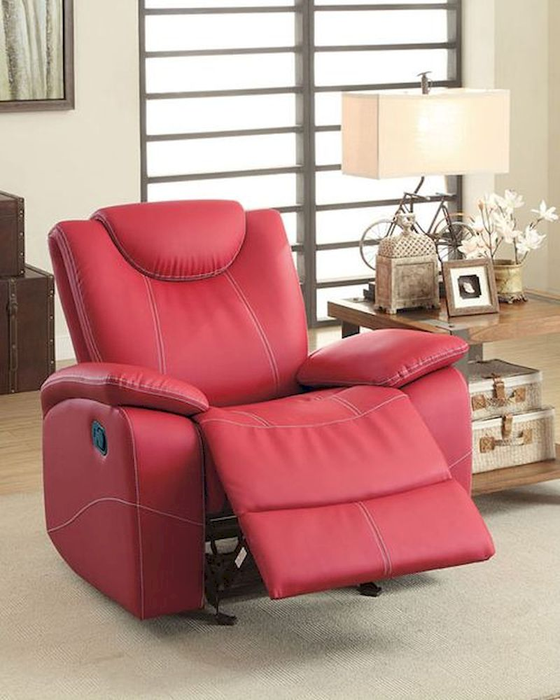 Red Glider Reclining Chair Talbot by Homelegance EL 8524RD 1