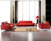 Red Leather Sofa Set Bella Italia 44L216-12