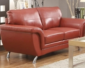Red Loveseat Chaska by Homelegance EL-8523RED-2